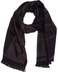 Emporio Armani Men's Wool Scarf - Black