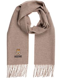 Moschino Men's Wool Scarf Teddy - Natural