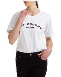 Philosophy Di Lorenzo Serafini Women's T-shirt Short Sleeve Crew Neck Round - White