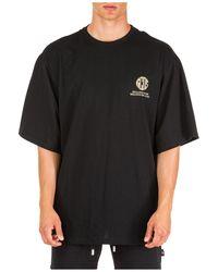 Gcds Men's Short Sleeve T-shirt Crew Neckline Sweater - Black