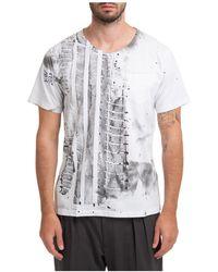 Gabriele Pasini Short Sleeve T-shirt Crew Neckline Jumper - White
