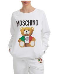 Moschino Felpa donna italian teddy bear - Bianco