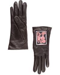 Emporio Armani Women's Leather Gloves - Black