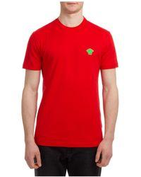 Versace Men's Short Sleeve T-shirt Crew Neckline Jumper Medusa - Red