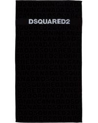 DSquared² Men's Beach Towel - Black