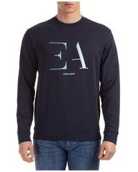 Emporio Armani Men's Sweatshirt Sweat Regular Fit - Blue