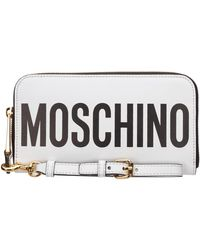 Moschino Women's Wallet Leather Coin Case Holder Purse Card Bifold - Black