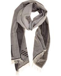 Emporio Armani Foulard Scarf - Grey