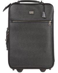 Dolce & Gabbana Men's Leather Suitcase Trolley - Black