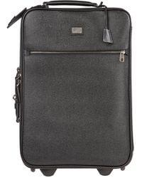 Dolce & Gabbana Trolley valigia uomo in pelle - Nero