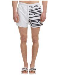 Emporio Armani Boxer Swimsuit Bathing Trunks Swimming Suit - White