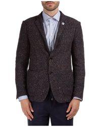 Lardini Men's Jacket Blazer Liknit - Multicolour