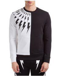 Neil Barrett Lightning Bolt Sweatshirt - Black