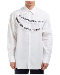 Valentino Men's Long Sleeve Shirt Dress Shirt - White