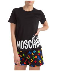 Moschino Logo Print T-shirt - Black