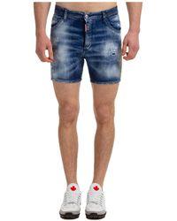 DSquared² Bermuda shorts pantaloncini uomo dan commando - Blu