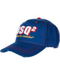 DSquared² Cappello berretto regolabile uomo in cotone baseball - Blu