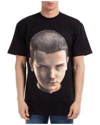ih nom uh nit Face Print T-shirt - Black