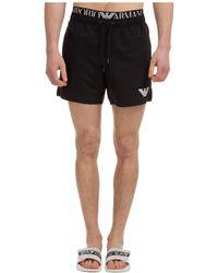 Emporio Armani Boxer Swimsuit Bathing Trunks Swimming Suit - Black