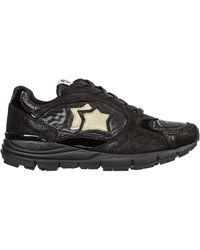 Atlantic Stars Women's Shoes Leather Trainers Trainers Mira - Black