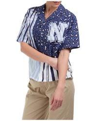 Neil Barrett Women's Shirt Short Sleeve - Blue