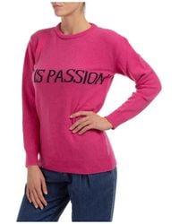 Alberta Ferretti Women's Jumper Jumper Crew Neck Round Life Is Passion Capsule Collection - Pink