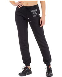 Moschino Women's Sport Tracksuit Pants Double Question Mark - Black