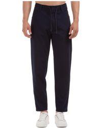 Emporio Armani Men's Trousers Trousers Regular Fit - Blue