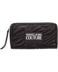 Versace Jeans Women's Wallet Coin Case Holder Purse Card Bifold - Black