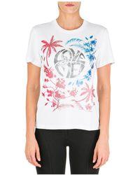Alberta Ferretti T-shirt maglia maniche corte girocollo donna love me wild - Bianco