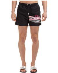 EA7 Men's Boxer Swimsuit Bathing Trunks Swimming Suit - Black