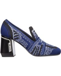 Prada Women's Court Shoes Court Heel Shoes - Blue
