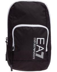 EA7 Men's Nylon Cross-body Messenger Shoulder Bag - Black