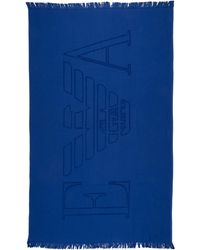 Emporio Armani Men's Beach Towel - Blue