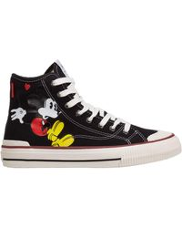MOA Women's Shoes High Top Trainers Trainers Disney Mickey Mouse - Black