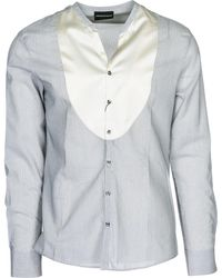 Emporio Armani Men's Long Sleeve Shirt Dress Shirt - Grey