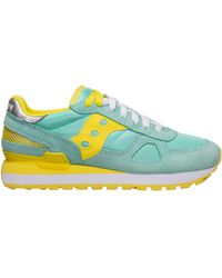 Saucony Women's Shoes Suede Trainers Trainers Jazz - Blue