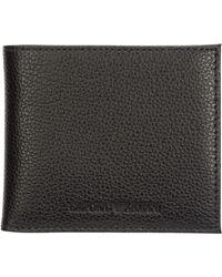Emporio Armani Men's Genuine Leather Wallet Credit Card Bifold - Multicolour