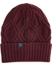 Lardini Cuffia berretto uomo in lana - Rosso