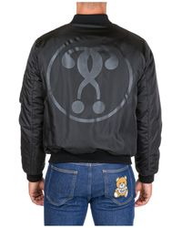 Moschino Men's Outerwear Jacket Blouson Double Question Mark - Black