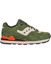 Saucony Men's Shoes Suede Trainers Trainers Courageous - Green