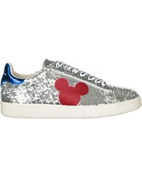 MOA Women's Shoes Leather Trainers Trainers Disney Mickey Mouse - Metallic