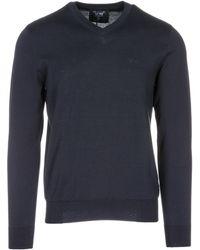 Armani Jeans - Maglione maglia uomo collo a v - Lyst