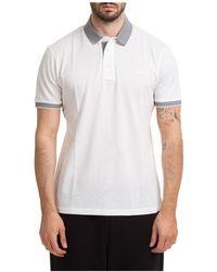 Emporio Armani Men's Short Sleeve T-shirt Polo Collar - White