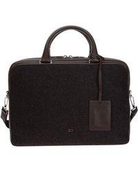 Dior Briefcase Attaché Case Laptop Pc Bag Leather - Grey