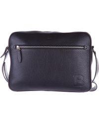 Bally Men's Leather Cross-body Messenger Shoulder Bag Capa - Black