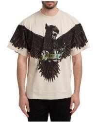 Represent Men's Short Sleeve T-shirt Crew Neckline Sweater - Natural