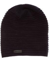 Emporio Armani Men's Beanie Hat - Black
