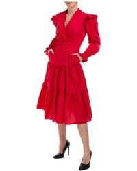Philosophy Di Lorenzo Serafini Women's Long Dress Long Sleeve - Red