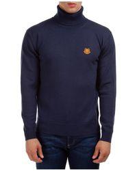 KENZO - Polo Neck Turtleneck Jumper Sweater Tiger Crest - Lyst